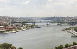 Widok z lotu ptaka nad Istanbuł Turcja Zdjęcie Royalty Free