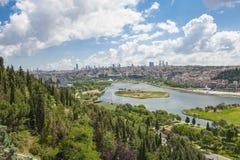 Widok z lotu ptaka nad Istanbuł Turcja Obrazy Royalty Free