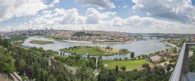 Widok z lotu ptaka nad Istanbuł Turcja Obraz Royalty Free