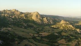 Widok z lotu ptaka nad Italien Alps zbiory wideo