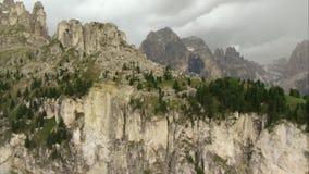 Widok z lotu ptaka nad Italien Alps zdjęcie wideo