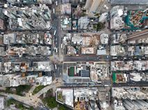 Widok z lotu ptaka nad Kowloon, Podrabiany Shui Po w Hong Kong save w plik-dziennik, fotografia royalty free