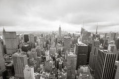 Widok z lotu ptaka nad Manhattan Fotografia Royalty Free