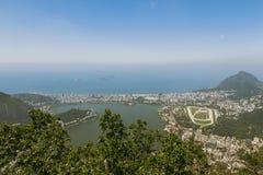 Widok z lotu ptaka nad Rio De Janeiro Obraz Royalty Free