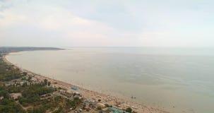 Widok z lotu ptaka nadmorski Odessa Czarny Denny wybrzeże zdjęcie wideo