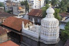 Widok z lotu ptaka Nageshwar świątynia, Somwar Peth, Pune obraz royalty free