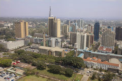 Widok z lotu ptaka Nairobia Zdjęcie Stock