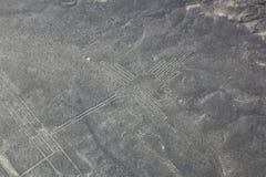 Widok z lotu ptaka Nazca Wykłada - Hummingbird geoglyph, Peru Obrazy Stock