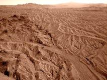 Widok z lotu ptaka Nevada pustynia w sepiowym brzmieniu Obraz Royalty Free