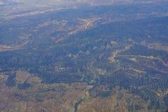 Widok z lotu ptaka niektóre widok górski Zdjęcie Stock
