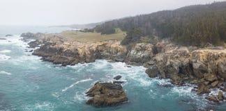 Widok Z Lotu Ptaka Niewygładzony Północnego Kalifornia wybrzeże fotografia royalty free