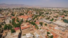 Widok z lotu ptaka Nikozja, północna część obrazy royalty free
