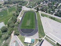 Widok Z Lotu Ptaka Niwot szkoły średniej sportów pola Zdjęcie Stock