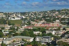 Widok z lotu ptaka Noumea, Nowy Caledonia przedmieście obrazy stock