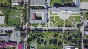 Widok z lotu ptaka nowożytny, czysty miasto z i klamerka Odgórny widok nowożytny miasto z zbiory wideo