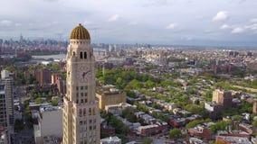 Widok z lotu ptaka Nowy Jork, Brooklyn, Dumbo Residental i pieniężni biznesowi budynki od above zbiory