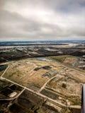 widok z lotu ptaka Nowy Orlean bagna obraz royalty free