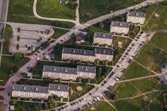 Widok z lotu ptaka Nysa miasteczko w Polska Zdjęcia Royalty Free