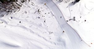 Widok Z Lotu Ptaka ośrodek narciarski w górach przy zimą Mieszkanie nieatutowy zbiory