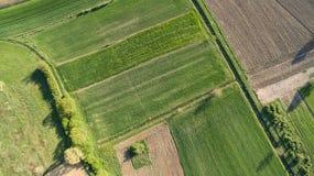 Widok z lotu ptaka obszar wiejski Zdjęcia Stock