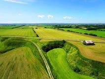 Widok z lotu ptaka obszar wiejski Fotografia Stock