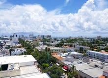 Widok z lotu ptaka oceanów południe i przejażdżki plaża zdjęcie stock