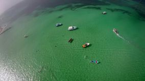 Widok z lotu ptaka ocean zbiory wideo