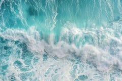 Widok z lotu ptaka ocean fala fotografia royalty free