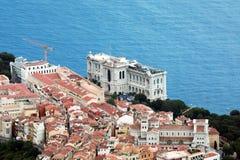 Widok z lotu ptaka Oceanograficzny muzeum Monaco zdjęcia royalty free