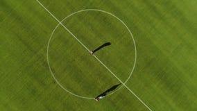 Widok z lotu ptaka ocechowanie stadionu futbolowego pole z farb? zbiory
