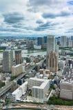 Widok z lotu ptaka od above na Tokio przedmieściu na słonecznym dniu Obraz Royalty Free