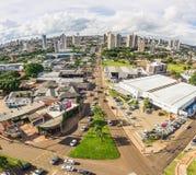 Widok z lotu ptaka od Ceara alei w Campo Grande MS Fotografia Royalty Free