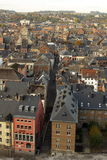 Widok z lotu ptaka, od cytadeli miasto Namur, Belgia, Europa zdjęcie royalty free