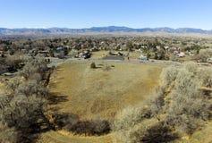 Widok z lotu ptaka od Denwerskiego Kolorado Zdjęcia Stock