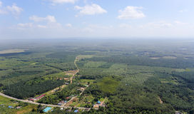 Widok z lotu ptaka od góry Obraz Stock