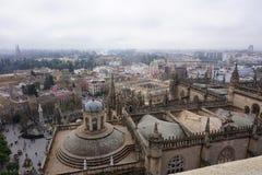 Widok z lotu ptaka od Giralda Seville katedra, Hiszpania obraz royalty free