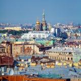 Widok Z Lotu Ptaka od Isaac katedry, święty Petersburg Fotografia Stock