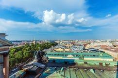 Widok Z Lotu Ptaka od Isaac katedry, święty Petersburg Zdjęcie Stock