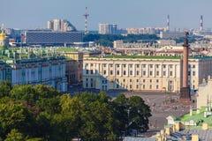 Widok Z Lotu Ptaka od Isaac katedry, święty Petersburg Obrazy Royalty Free