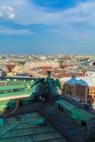 Widok Z Lotu Ptaka od Isaac katedry, święty Petersburg Zdjęcia Royalty Free
