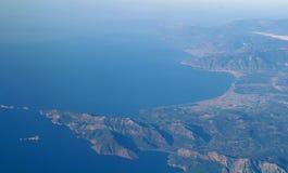 Widok z lotu ptaka od samolotu obrazy stock