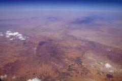 Widok z lotu ptaka od samolotu zdjęcie stock
