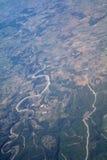 Widok z lotu ptaka od samolotu obrazy royalty free