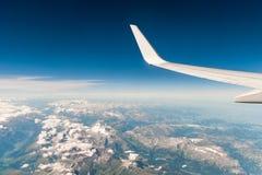 Widok z lotu ptaka od samolotu Fotografia Stock