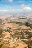 Widok z lotu ptaka od samolotu na Maroko afryka zachodnia Zdjęcie Stock