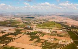 Widok z lotu ptaka od samolotu na Maroko afryka zachodnia Obrazy Royalty Free