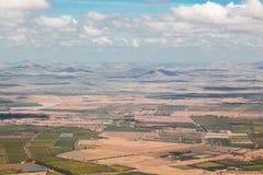 Widok z lotu ptaka od samolotu na Maroko afryka zachodnia Zdjęcie Royalty Free