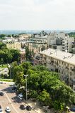 Widok z lotu ptaka od St Sophia katedry na budynkach dziejowy centrum Kijów obrazy stock