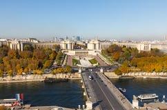 Widok z lotu ptaka od wieży eifla w Paryż Zdjęcia Stock