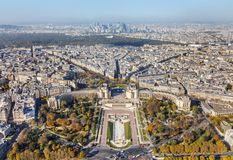 Widok z lotu ptaka od wieży eifla w Paryż Obrazy Royalty Free